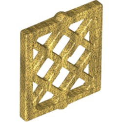 Pearl Gold Pane for Window 1 x 2 x 2 Lattice Diamond