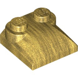 Pearl Gold Slope, Curved 2 x 2 x 2/3 with Two Studs and Curved Sides - used
