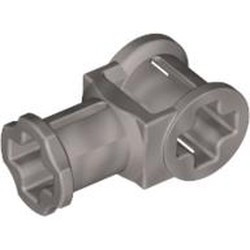 Pearl Light Gray Technic, Axle Connector with Axle Hole