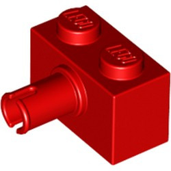 Red Brick, Modified 1 x 2 with Pin - new