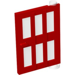 Red Door 1 x 4 x 5 Right with 6 Panes