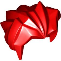 Red Minifigure, Hair Angular Swept Back - used