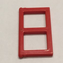 Red Pane for Window 1 x 2 x 3 - used