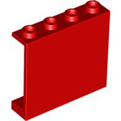 Red Panel 1 x 4 x 3 - Hollow Studs - used