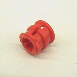 Red Technic Bush with Lip and Side Grooves