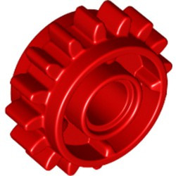 Red Technic, Gear 16 Tooth with Clutch on Both Sides