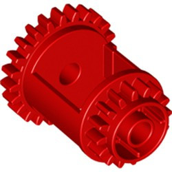 Red Technic, Gear Differential, 24-16 Teeth
