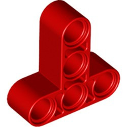 Red Technic, Liftarm 3 x 3 T-Shape Thick - new