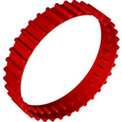 Red Tread Large, Non-Technic with 36 Treads - used