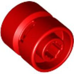 Red Wheel 11mm D. x 12mm, Hole Notched for Wheels Holder Pin