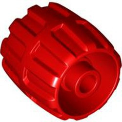 Red Wheel Hard Plastic Small (22mm D. x 24mm) - used