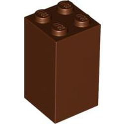 Reddish Brown Brick 2 x 2 x 3