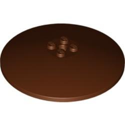 Reddish Brown Dish 8 x 8 Inverted (Radar) - used - Solid Studs