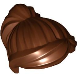 Reddish Brown Minifigure, Hair Female Ponytail and Swept Sideways Fringe - used