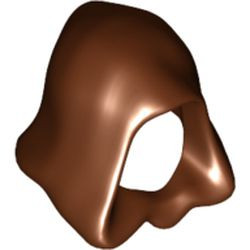 Reddish Brown Minifigure, Headgear Hood