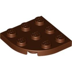 Reddish Brown Plate, Round Corner 3 x 3 - new