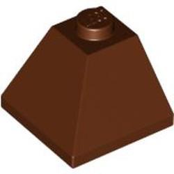 Reddish Brown Slope 45 2 x 2 Double Convex Corner