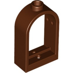 Reddish Brown Window 1 x 2 x 2 2/3 with Rounded Top