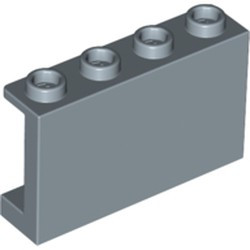 Sand Blue Panel 1 x 4 x 2 with Side Supports - Hollow Studs