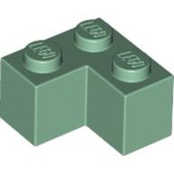Sand Green Brick 2 x 2 Corner - new