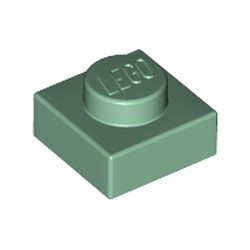 Sand Green Plate 1 x 1 - new