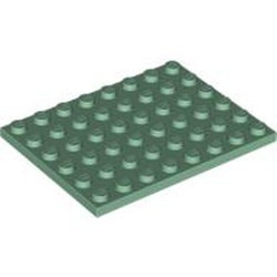 Sand Green Plate 6 x 8 - new