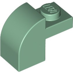 Sand Green Slope, Curved 2 x 1 x 1 1/3 with Recessed Stud - new