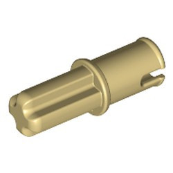Tan Technic, Axle 1L with Pin without Friction Ridges Lengthwise