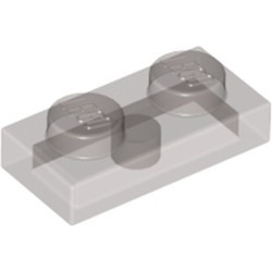 Trans-Black Plate 1 x 2 - new