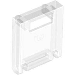 Trans-Clear Container, Box 2 x 2 x 2 Door with Slot - used