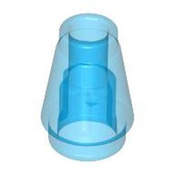 Trans-Dark Blue Cone 1 x 1 without Top Groove