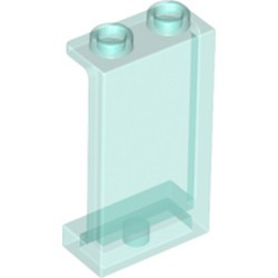Trans-Light Blue Panel 1 x 2 x 3 with Side Supports - Hollow Studs