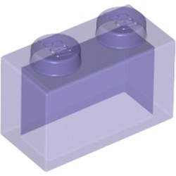 Trans-Purple Brick 1 x 2 without Bottom Tube - new
