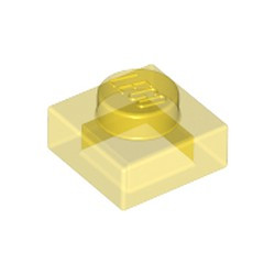 Trans-Yellow Plate 1 x 1