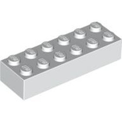 White Brick 2 x 6