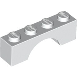 White Brick, Arch 1 x 4 - used