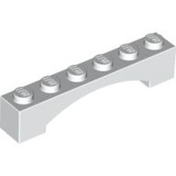 White Brick, Arch 1 x 6 Raised Arch - used