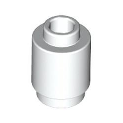 White Brick, Round 1 x 1 Open Stud - used