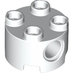 White Brick, Round 2 x 2 with Pin Holes - new