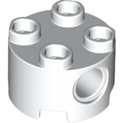 White Brick, Round 2 x 2 with Pin Holes
