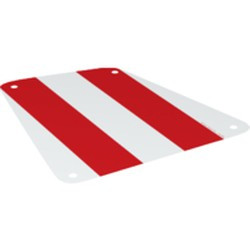 White Cloth Sail 19 x 17 with Red Thick Stripes Pattern - new