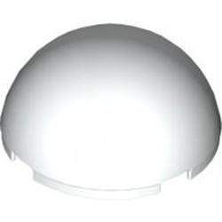 White Cylinder Hemisphere 4 x 4 - used