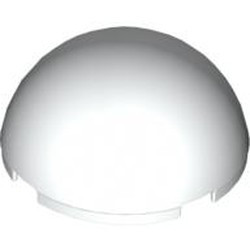 White Cylinder Hemisphere 4 x 4