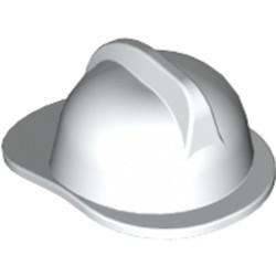 White Minifigure, Headgear Fire Helmet - used