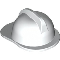 White Minifigure, Headgear Fire Helmet