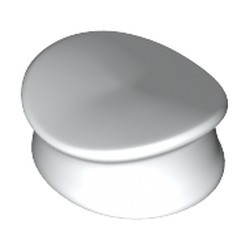 White Minifigure, Headgear Hat, Police - used
