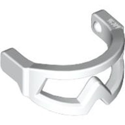 White Minifigure, Visor Snow Goggles - used
