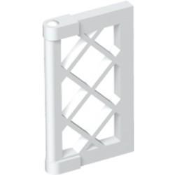 White Pane for Window 1 x 2 x 3 Lattice with Thick Corner Tabs