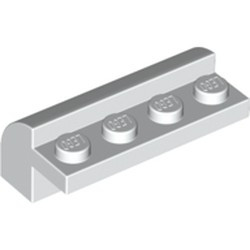 White Slope, Curved 2 x 4 x 1 1/3 with Four Recessed Studs