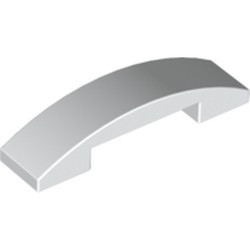 White Slope, Curved 4 x 1 Double